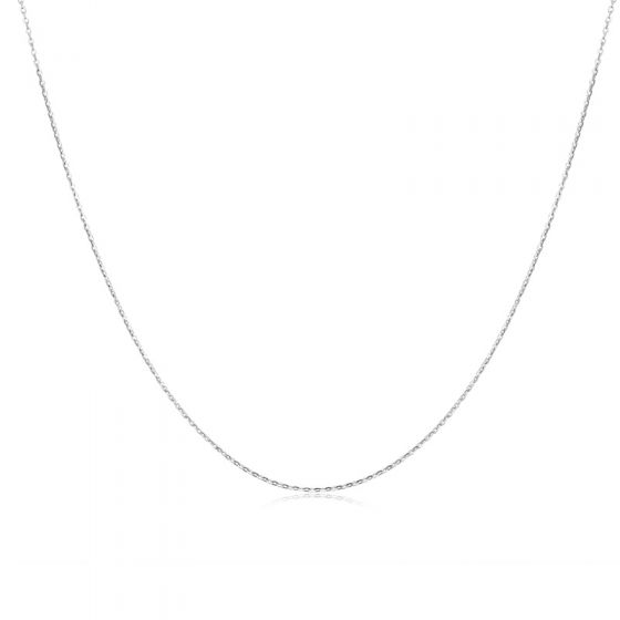 "Flat Link Cable 925 Sterling Silver 20"" 22"" 24"" Chain"