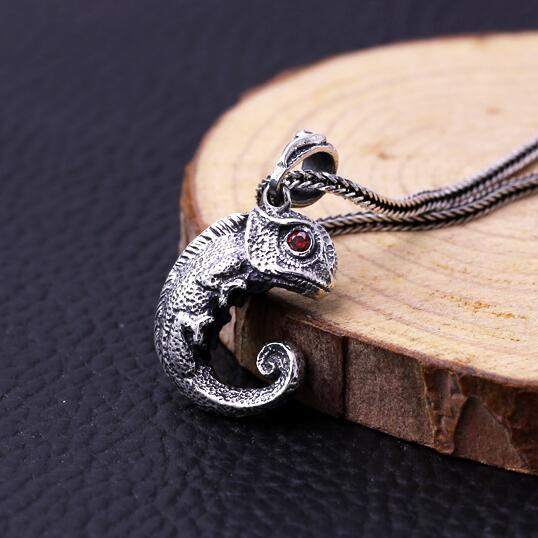 Fashion Oxide Lizard CZ 925 Silver Pendant