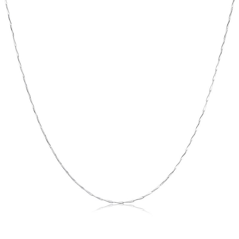Sterling Silver Necklace BOX Chain Solid 925 0.8mm New T1