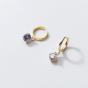 Casual Waterdrop CZ 925 Sterling Silver Hoop Earrings