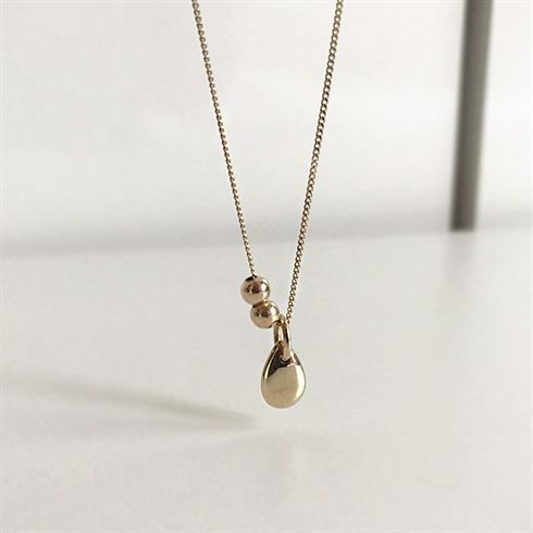 Fashion Waterdrop Beads 925 Sterling Silver Necklace