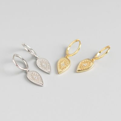 Fashion CZ Waterdrop Geometry 925 Sterling Silver Earring Buckles