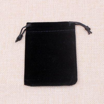 Fashion Black Velvet Jewelry Pouch