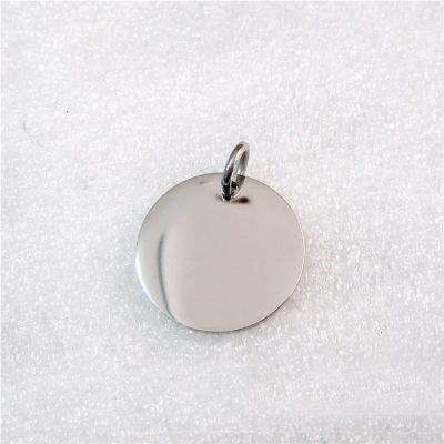 Custom Personalized 925 Sterling Silver Circle Round Blank 8mm 10mm