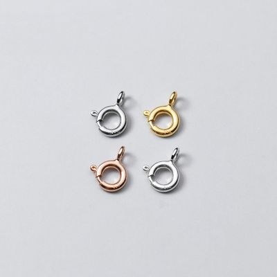 Simple 925 Sterling Silver Spring  Clasp