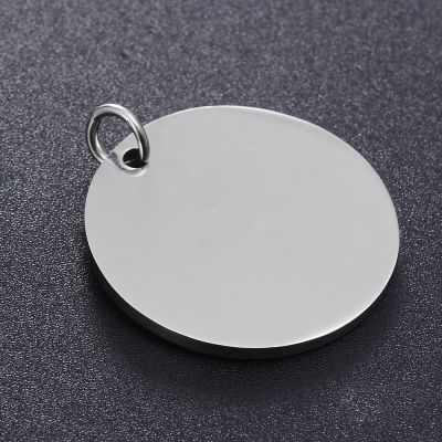 Fashion Simple Circle Round 925 Sterling Silver Custom Personalized Blank