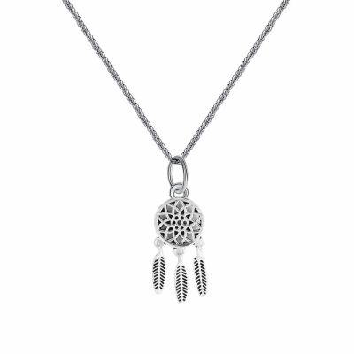 Trendy Hollow Flower Tassel 925 Silver Charm