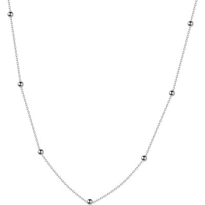 Choker Beads 925 Sterling Silver Necklace
