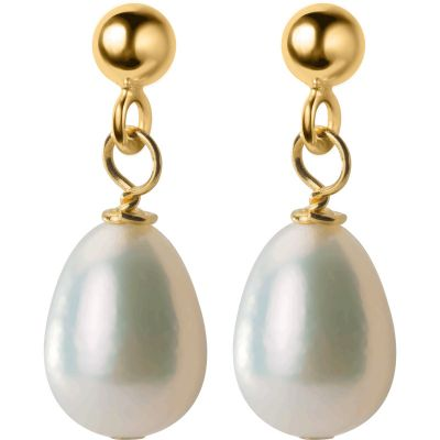 Elegant Waterdrop Freshwater Pearl 925 Sterling Silver Dangling Earrings