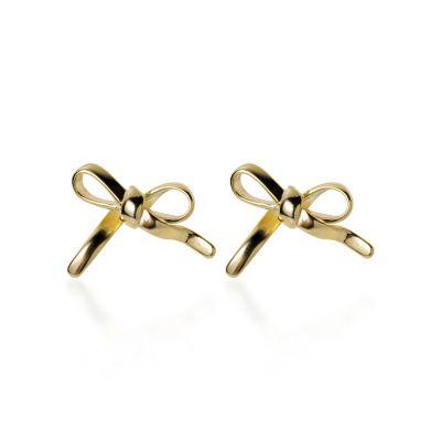 Cute Hollow Bowknot 925 Sterling Silver Stud Earrings