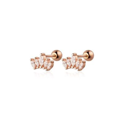Sweet CZ Crown 925 Sterling Silver Stud Earrings