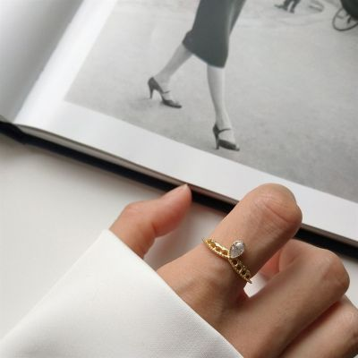 Waterdrop CZ Crown Girl 925 Sterling Silver Adjustable Ring