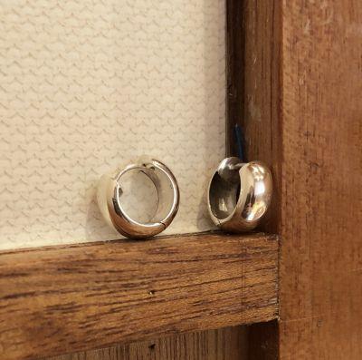 Simple Geometric Round Hoop 925 Sterling Silver Earrings