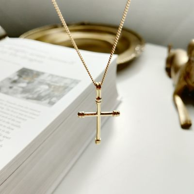 Holiday Simple Cross 925 Sterling Silver Necklace