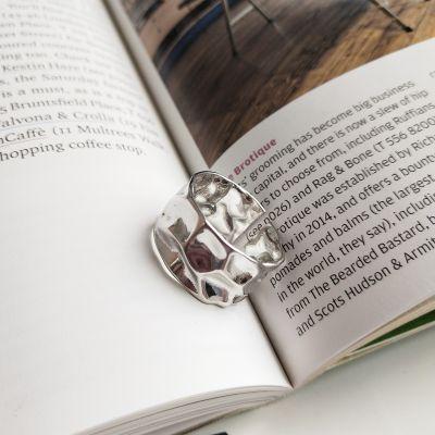 不規則にそれを広くしなさい925純銀製の調節可能なリング