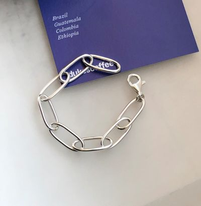 Vinatge Hollow Chain 925 Sterling Silver Bracelet
