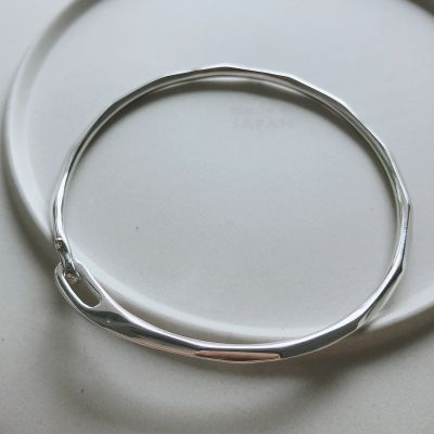 Simple Geometry 925 Sterling Silver Bangle