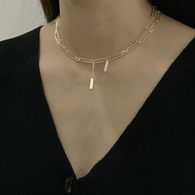 Simple Choker Hollow Chain 925 Sterling Silver Necklace