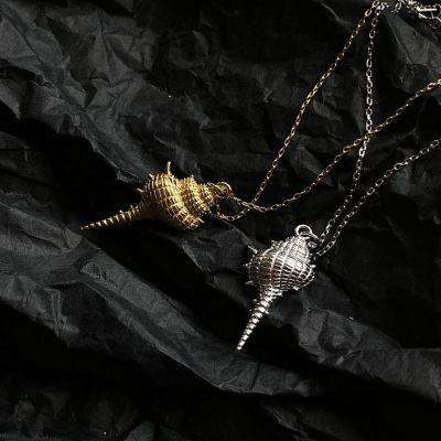 Cute Sea Conch 925 Sterling Silver Necklace