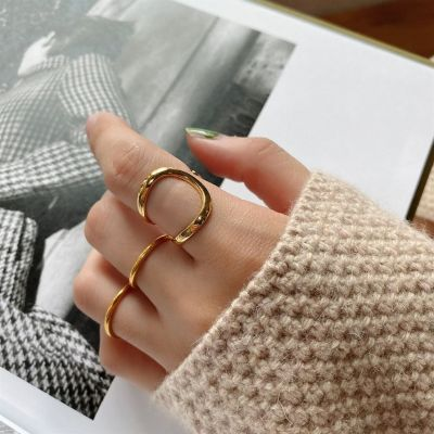 Classic Irregular Geometry 925 Sterling Silver Adjustable Ring