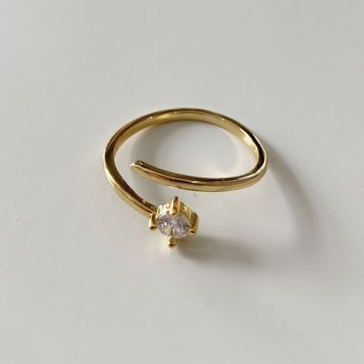 Wedding Round CZ 925 Sterling Silver Adjustable Ring