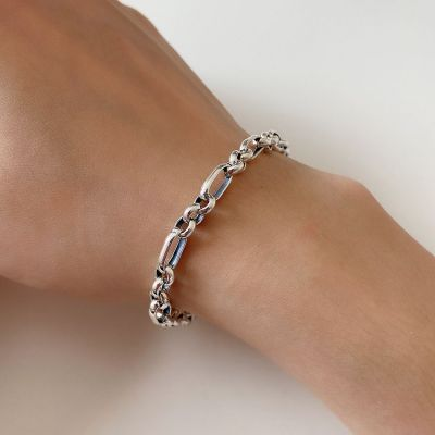 Fashion Hollow Chain 925 Sterling Silver Bracelet