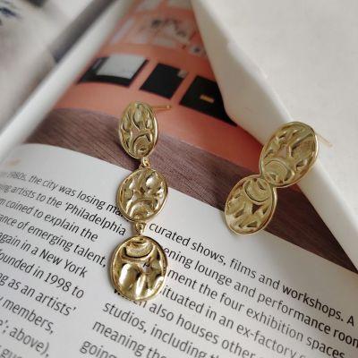 Asymmetry Irregular Geometry 925 Sterling Silver Dangling Earrings
