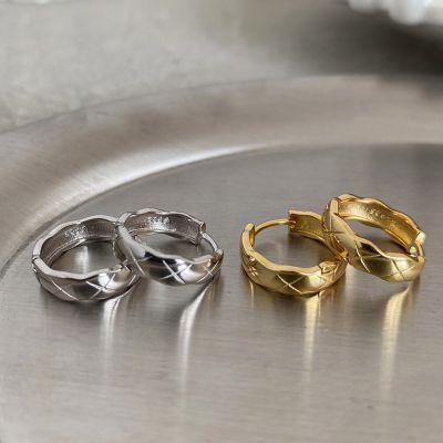 Geometry Circle 925 Sterling Silver Hoop Earrings