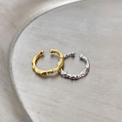 Fashion Irregular Burned 925 Sterling Silver Non-Pierced Earring(Single)