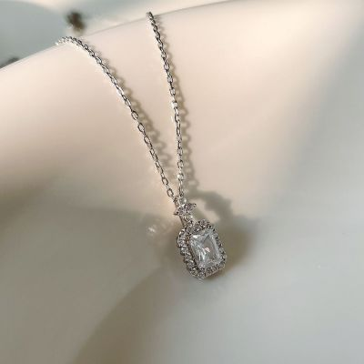 Office Emerald CZ 925 Sterling Silver Necklace