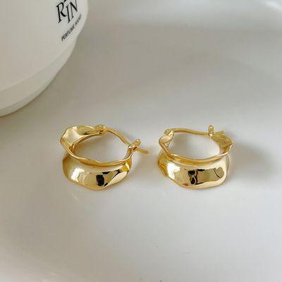 Fashion U Shape 925 Sterling Silver Hoop Earrings