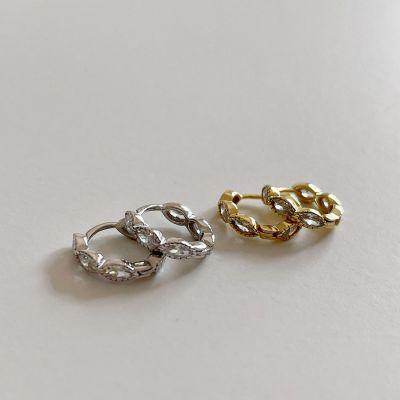 New Oval CZ 925 Sterling Silver Hoop Earrings