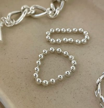 Fashion Beads 925 Sterling Silver Ring