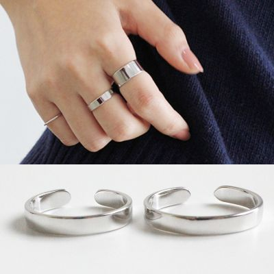 Smooth Adjustable 925 Sterling Silver Ring