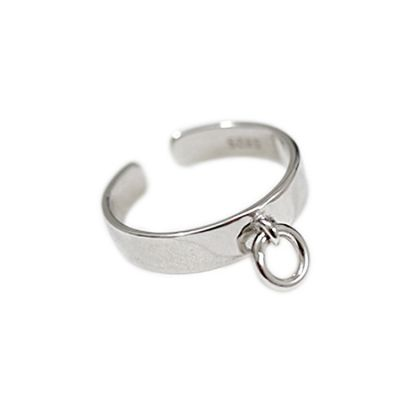 Simple Geometric Chic Circle 925 Sterling Silver Adjustable Ring