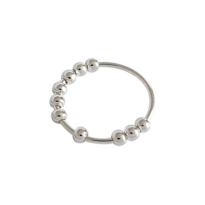 Simple Beads 925 Sterling Silver Ring
