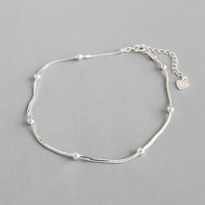 Simple Beads 925 Sterling Silver Bracelet