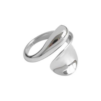 Geometry Waterdrop 925 Sterling Silver Adjustable Ring
