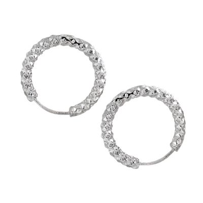 Modern  Circle 925 Sterling Silver Hoop Earrings