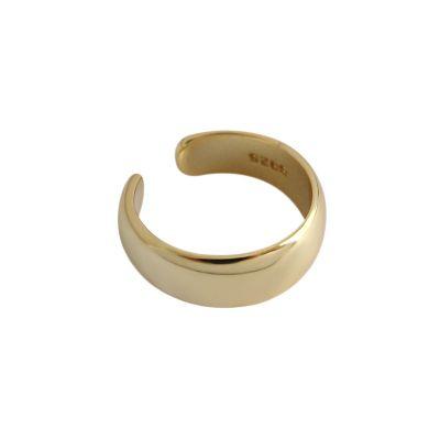 Simple Geometry 925 Sterling Silver Non-Piereced Earrings (Single One)