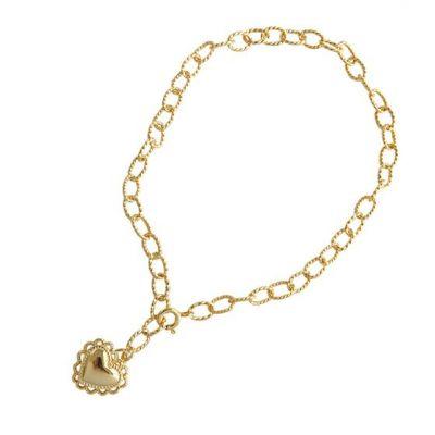 Classic Heart Love 925 Sterling Silver Bracelet