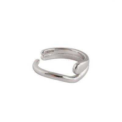 Irregular Heart 925 Sterling Silver Adjustable Ring