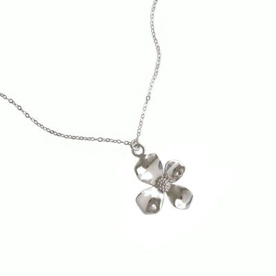 Girl Beautiful Flower 925 Sterling Silver Necklace