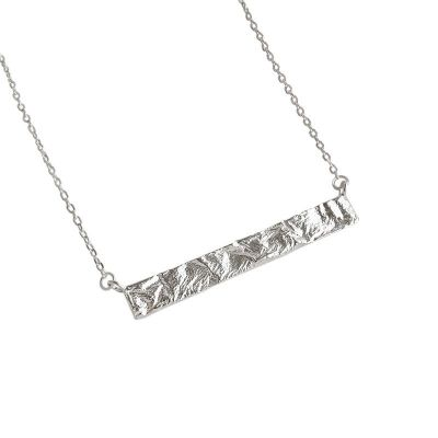 Geometry Rectangle Tag 925 Sterling Silver Necklace