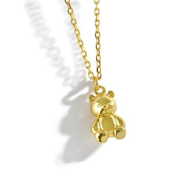 Cute Mini Bear Animal 925 Sterling Silver Necklace