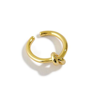 Minimalism Knot 925 Sterling Silver Adjustable Ring