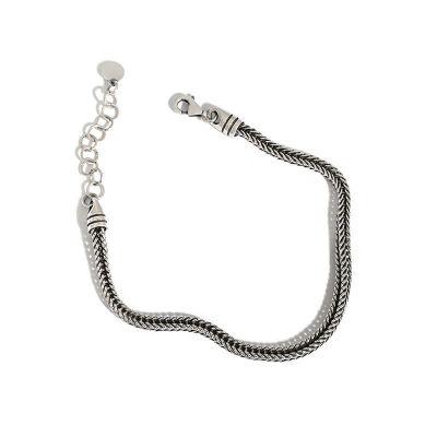 Vintage Snake Chain 925 Sterling Silver Bracelet