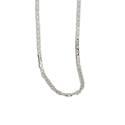 Simple 925 Sterling Silver Stacking Chain Necklace