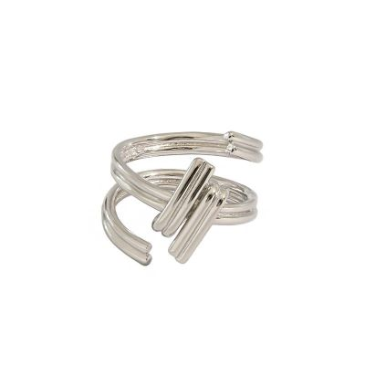 Fashion Screw 925 Sterling Silver Adjustable Ring