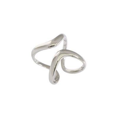 Fashion Hollow Irregular 925 Sterling Silver Adjustable Ring